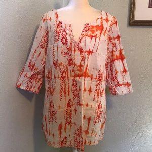 Avenue Orange Tie Dye Tunic Size 14/16